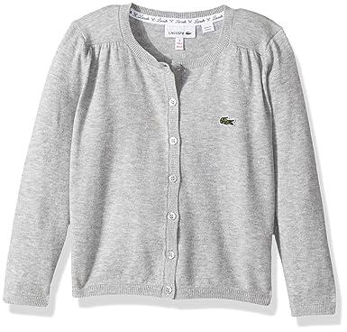 24b7a08582c64 Amazon.com  Lacoste Little Girls  Long Sleeve Cardigan  Clothing