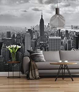 Sunny Decor 368 x 254cm 8-Part NYC Black and White Photomural