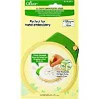 Clover Plastic Embroidery Stitching Hoop 4-3/4 -