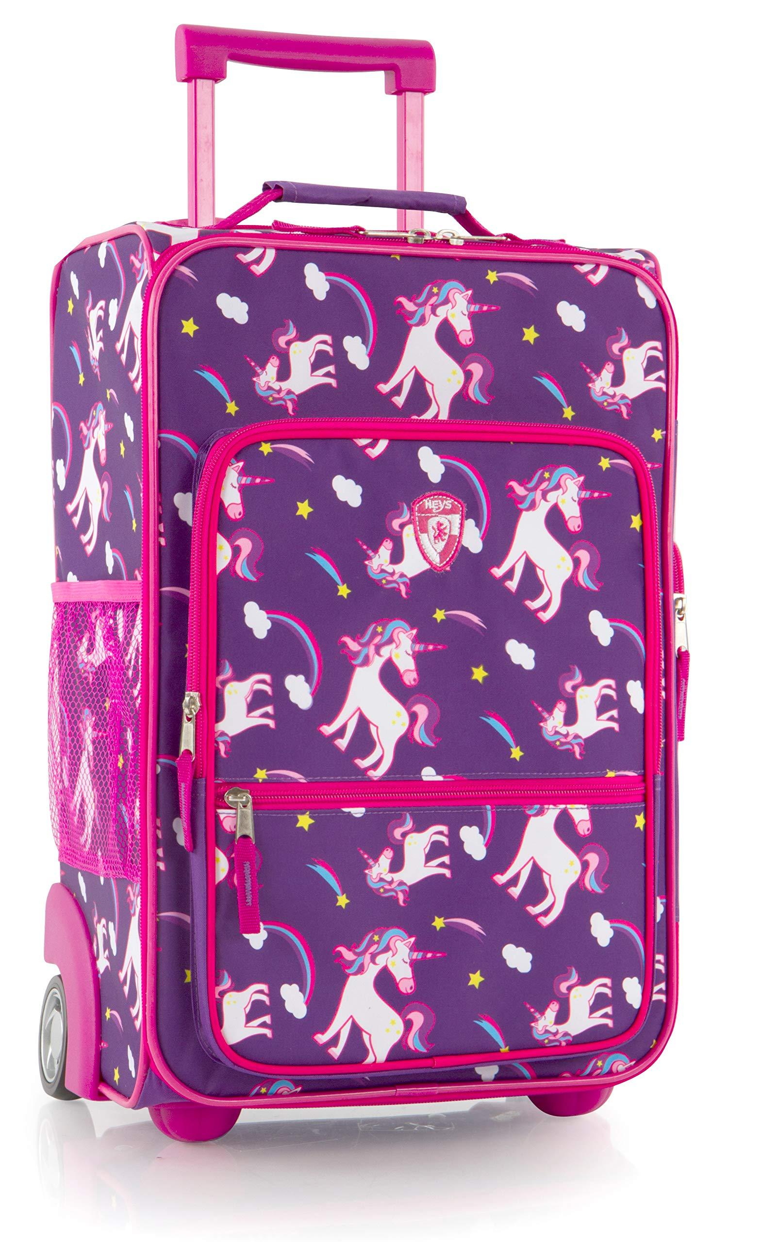 Heys America kids Softside 18'' Upright Carry-On Wheeled Luggage (Unicorn)