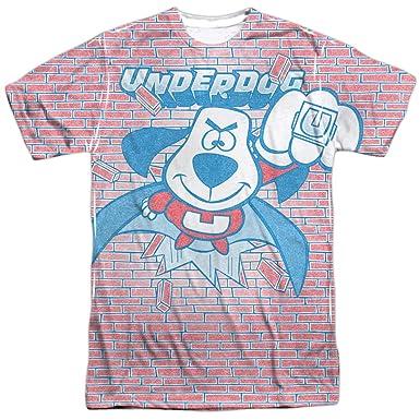 Underdog Burst (delantera y trasera) de impresión - sublimación camiseta: Amazon.es: Deportes y aire libre