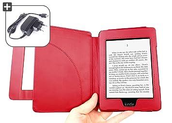 DURAGADGET Funda Roja De Cuero En Estilo De Libro Con Cierro Magnético Para El Nuevo Amazon Kindle Paperwhite, Wi-Fi, 6