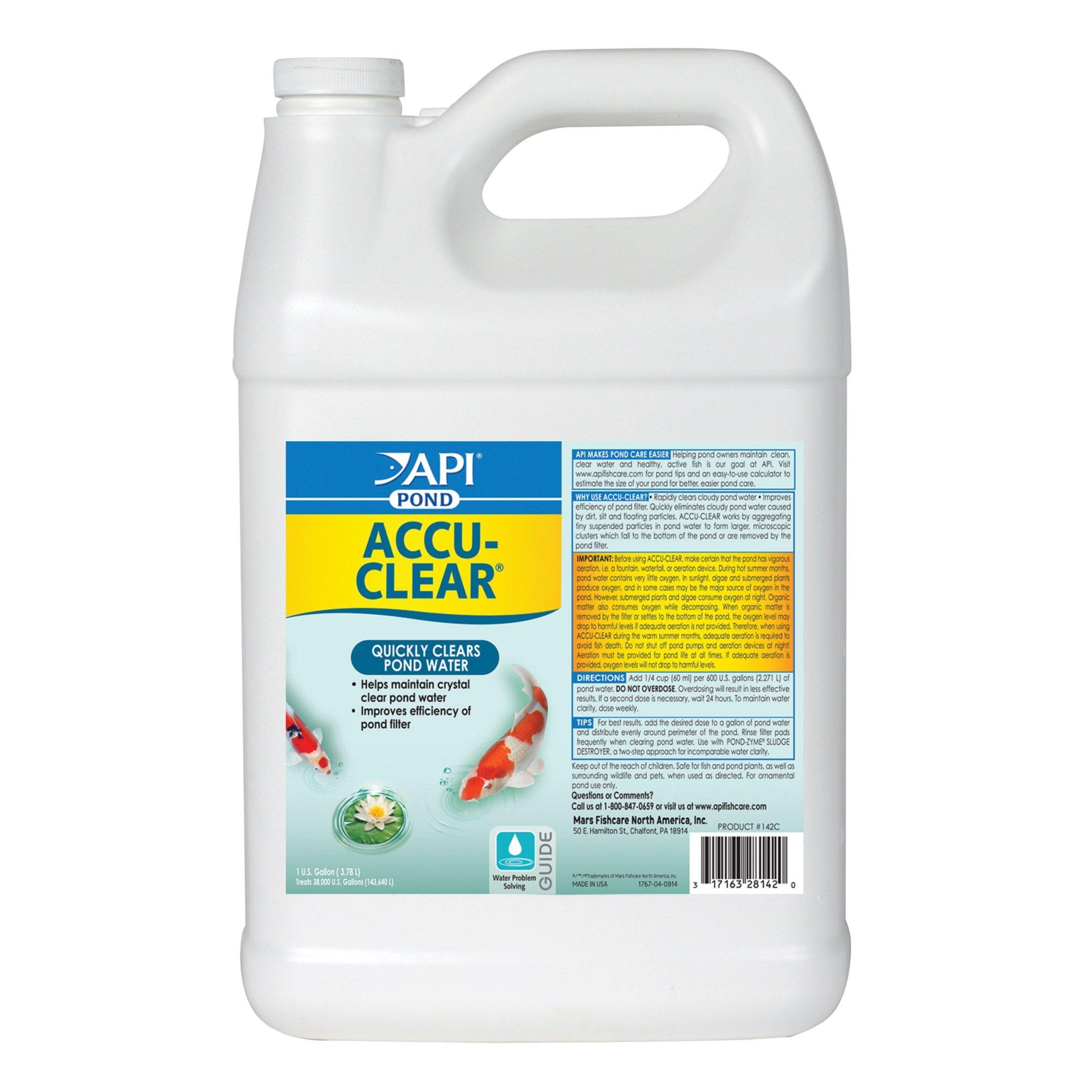 API POND ACCU-CLEAR Pond Water Clarifier 1-Gallon Bottle