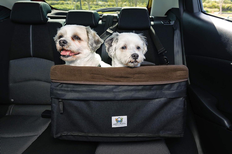 Boosta Pooch Hundesitz Für Doppel Oder Einzelbett Geeignet Für 1 Oder 2 Hunde Bis 14 Kg Sitzerhöhung Für Hunde L 48 3 X B 35 6 X H 25 4 Cm Schwarz Braun Haustier