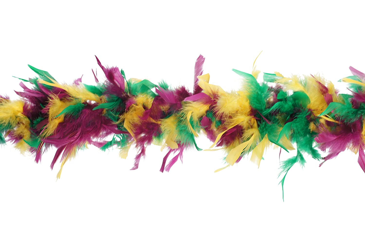 Zucker Medium Weight Chandelle Feather boa Multi Colors - Mardigras Mix - 5.5 CLC5.5--NY