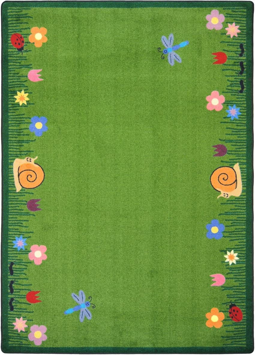 Joy Carpets Kid Essentials Geography Environment Summer Friends Rug, Multicolored, 3 10 x 5 4