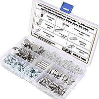 OCR 191PCS 7 Styles Shelf Pins Kit Nickel Plated Shelf Bracket Pegs Shelf Pins Support for Shelf Holes on Cabinet…