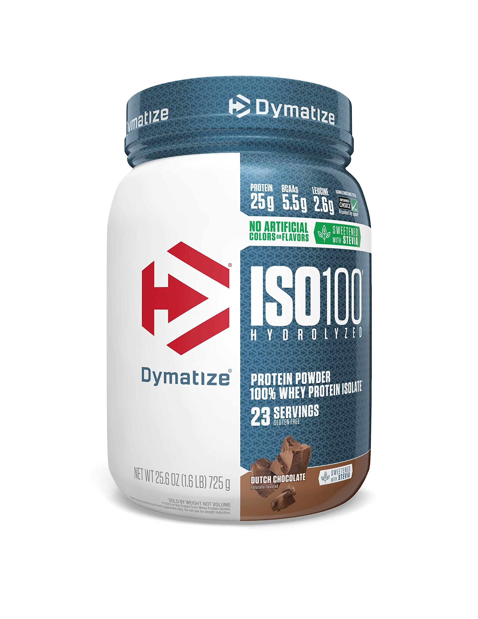 Dymatize ISO 100 Whey Protein Powder with 25g of Hydrolyzed, Chocolate, 1.6 Pound , 25.6 Oz
