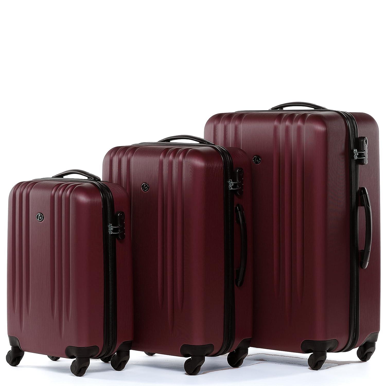 FERG/É/® Set 3 valises Voyage Rigide l/éger Marseille Ensemble de Bagages Trois pc 4 Roues Trolley 4 roulettes 360 degr/és Bagage Cabine Gris