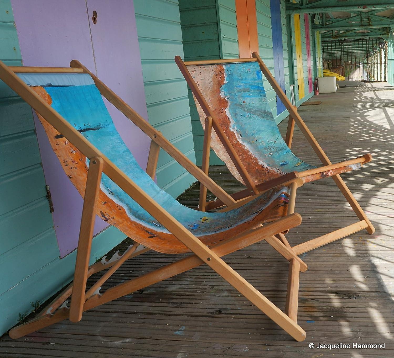 Amazon.de: Beach Liegestuhl, Für Den Außenbereich, Aus Holz, Rund ...