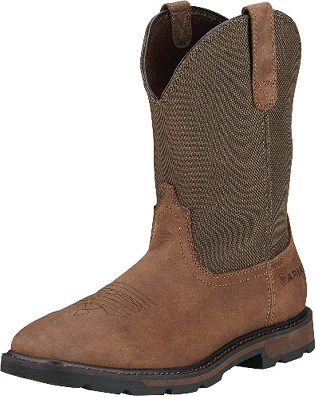 AriatメンズGroundbreaker Wide Square Steel Toe Work Boot B00RYC0FGQ 8.5 D / Medium(Width)|Palm Brown Palm Brown 8.5 D / Medium(Width)