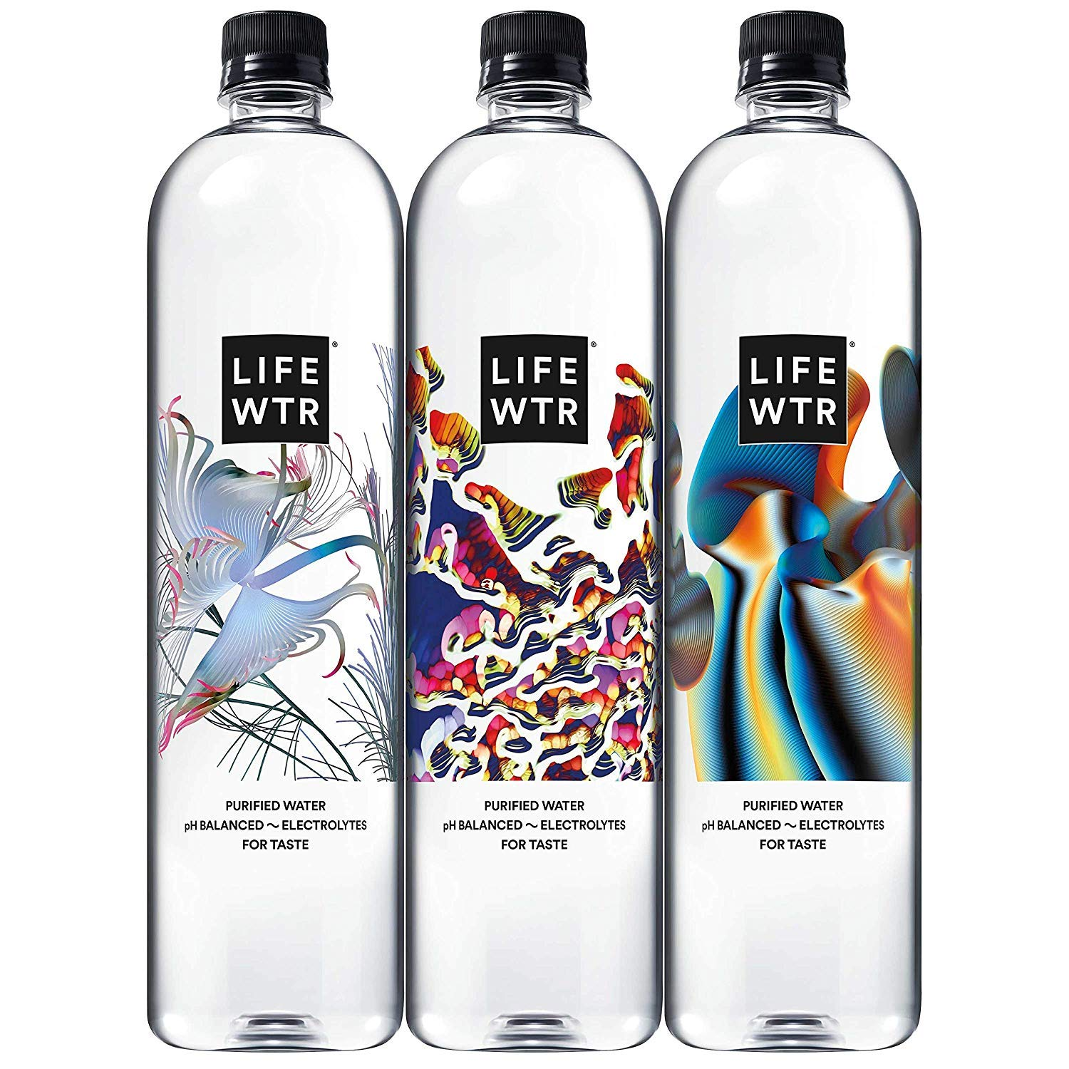LIFEWTR, Premium Purified Water, pH Balanced with Electrolytes For Taste, 1 liter bottles (25 Pack) (Packaging May Vary) (25 pack) by LIFEWTR