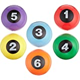 Abilitations Numbered Step-N-Stones Walk On Domes- 5 1/4 x 2 5/8 inch - Set of 6 - 6 Colors