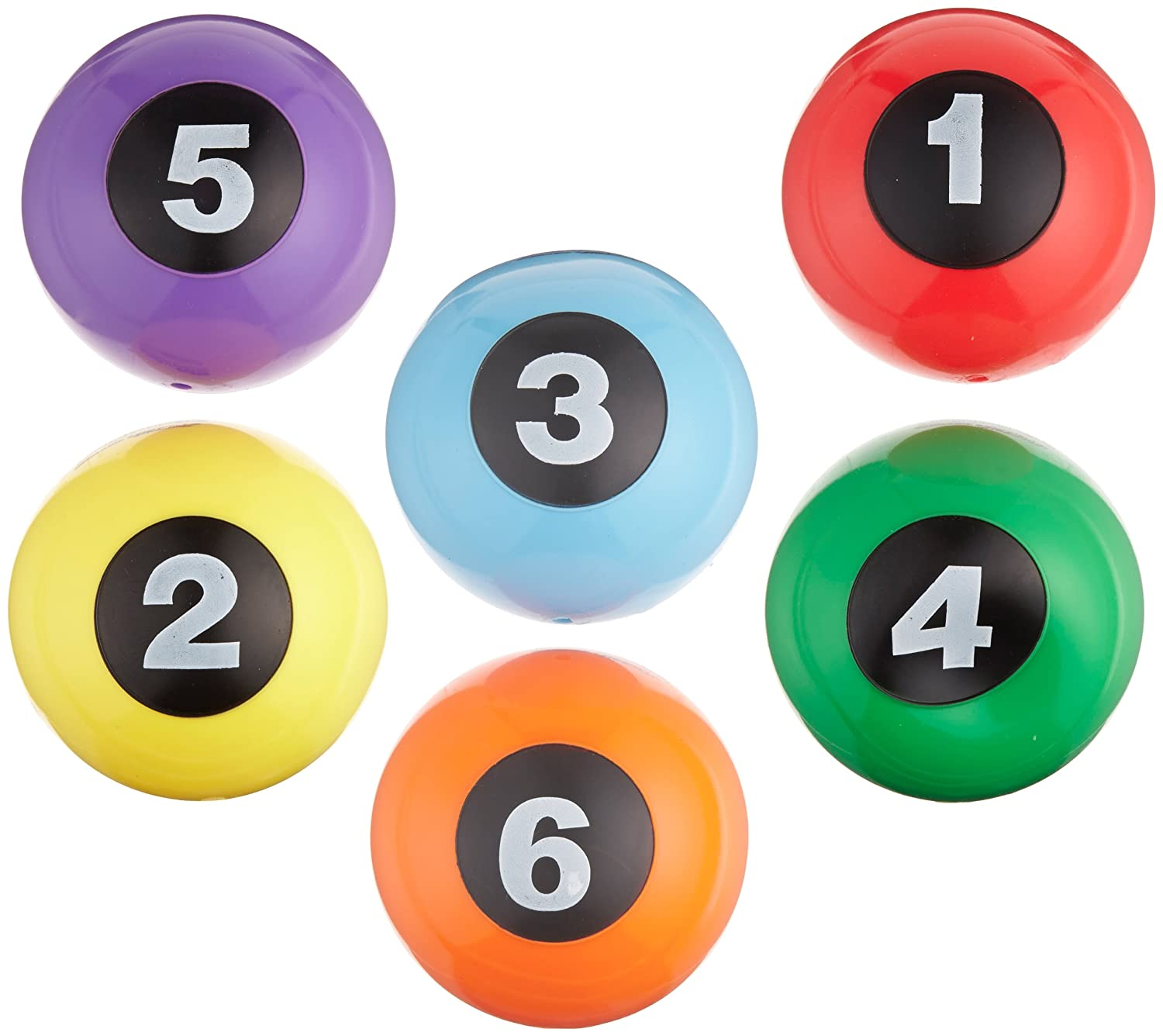 2-5//8 x 5-1//4 Inches Sportime Numbered Step-N-Stones Set of 6