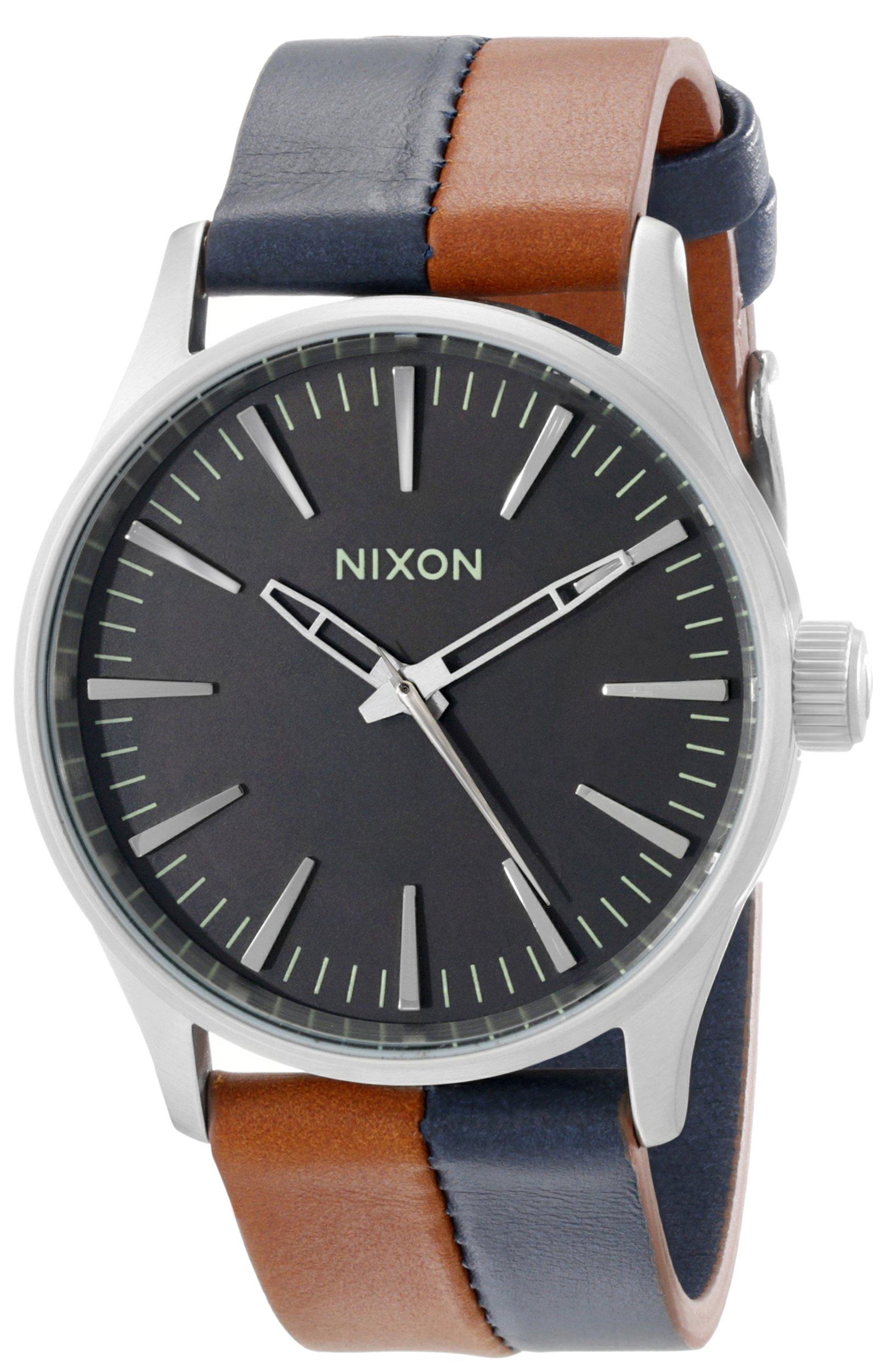 Nixon Men's A3771957 Sentry 38 Leather Watch by NIXON