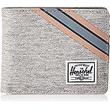 Herschel Roy Unisex Coin Wallet, Light Grey Crosshatch/Grey