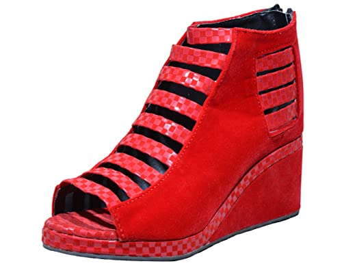 2be5485a58e Nav Pag Women s Synthethic Wedges (1003)  Buy Online at Low Prices in India  - Amazon.in