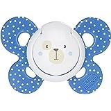 Chicco 00074903210000 Comfort Boy Succhietto, Caucciù, Blu, 6-16 Mesi, [Modeli Assortiti]