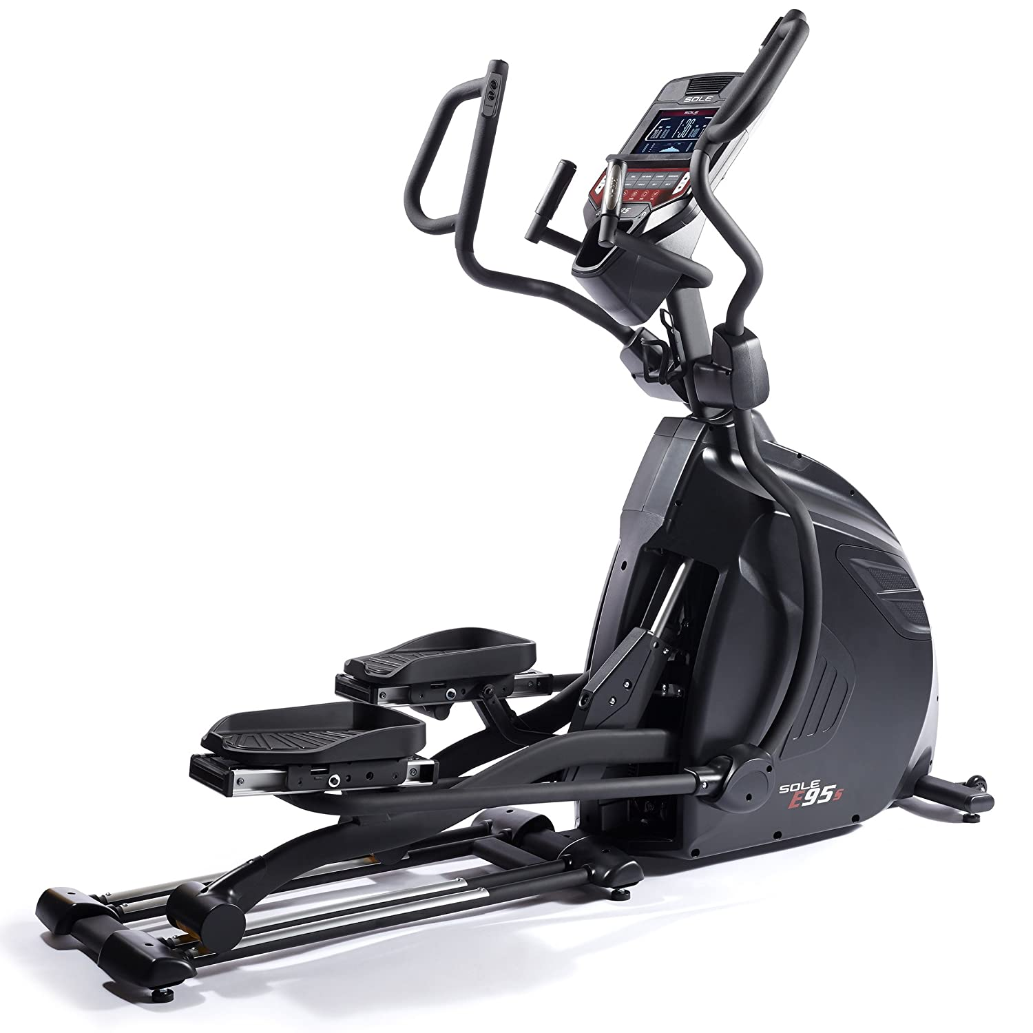 Sole E95S Elliptical Machine w/Adjustable Stride Length and Bluetooth Capability
