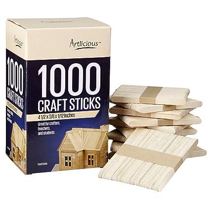 amazon com artlicious 1000 natural wooden food grade popsicle