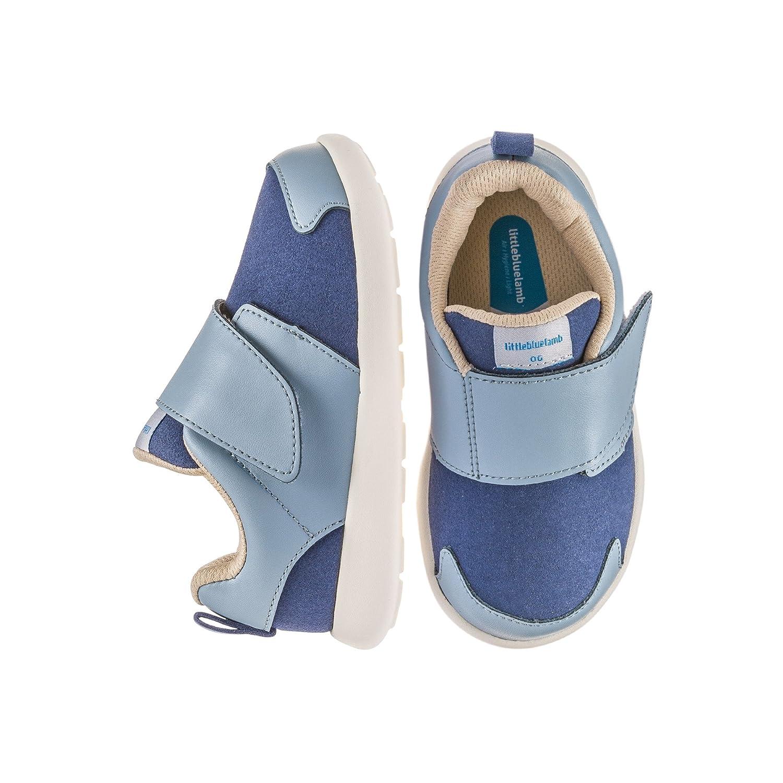 Girl/'s//Boy/'s Little Blue Lamb Infant Toddler Fleece /& Nubuck Boots 2 Tone Grey