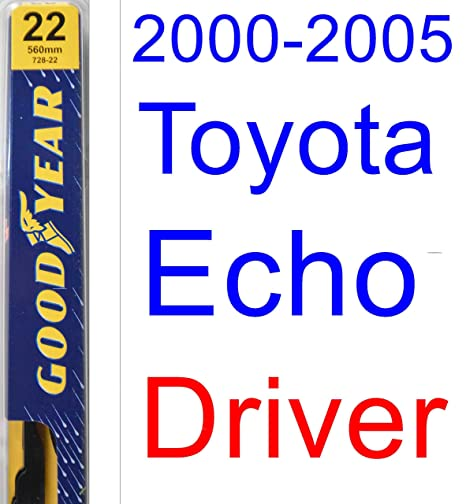 2000 – 2005 toyota echo hoja de limpiaparabrisas de repuesto Set/Kit (Goodyear limpiaparabrisas
