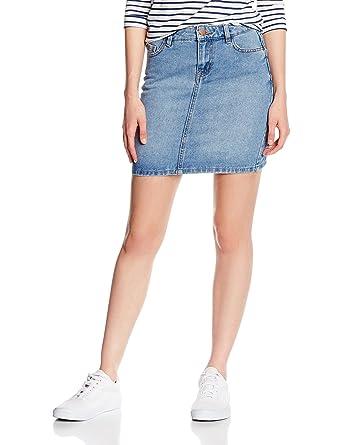 New Look Mini, Falda para Mujer, Azul (Blue) 34: Amazon.es: Ropa y ...