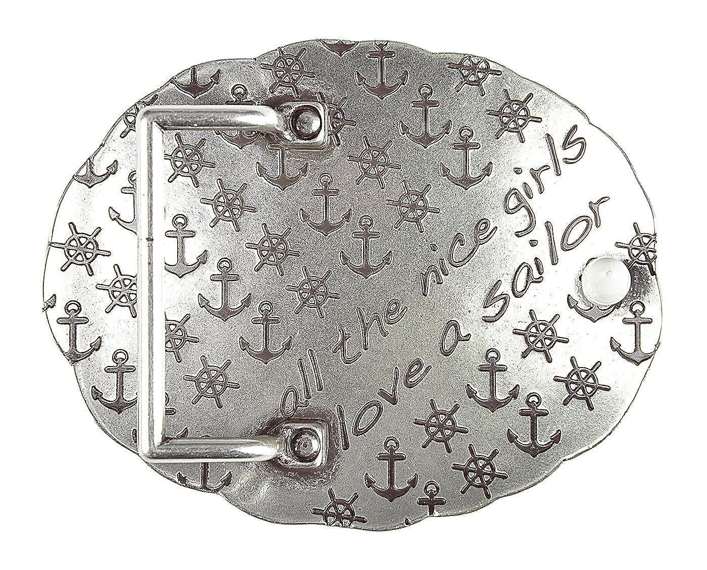 Unbekannt G/ürtelschliesse f/ür Wechselg/ürtel G/ürtelschnalle Anker Silber Buckle f/ür Piraten Lost mariners