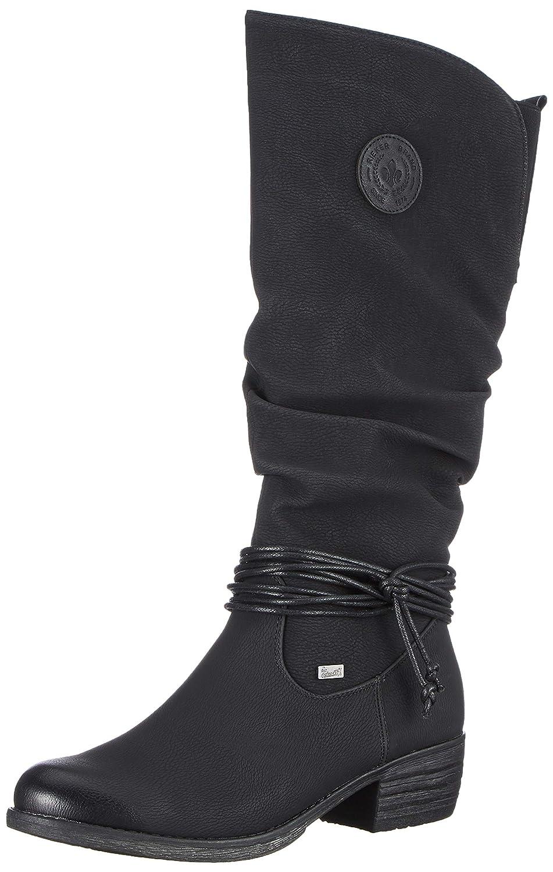 Schwarz(Schwarz00) Rieker Damen 93154 Hohe Stiefel