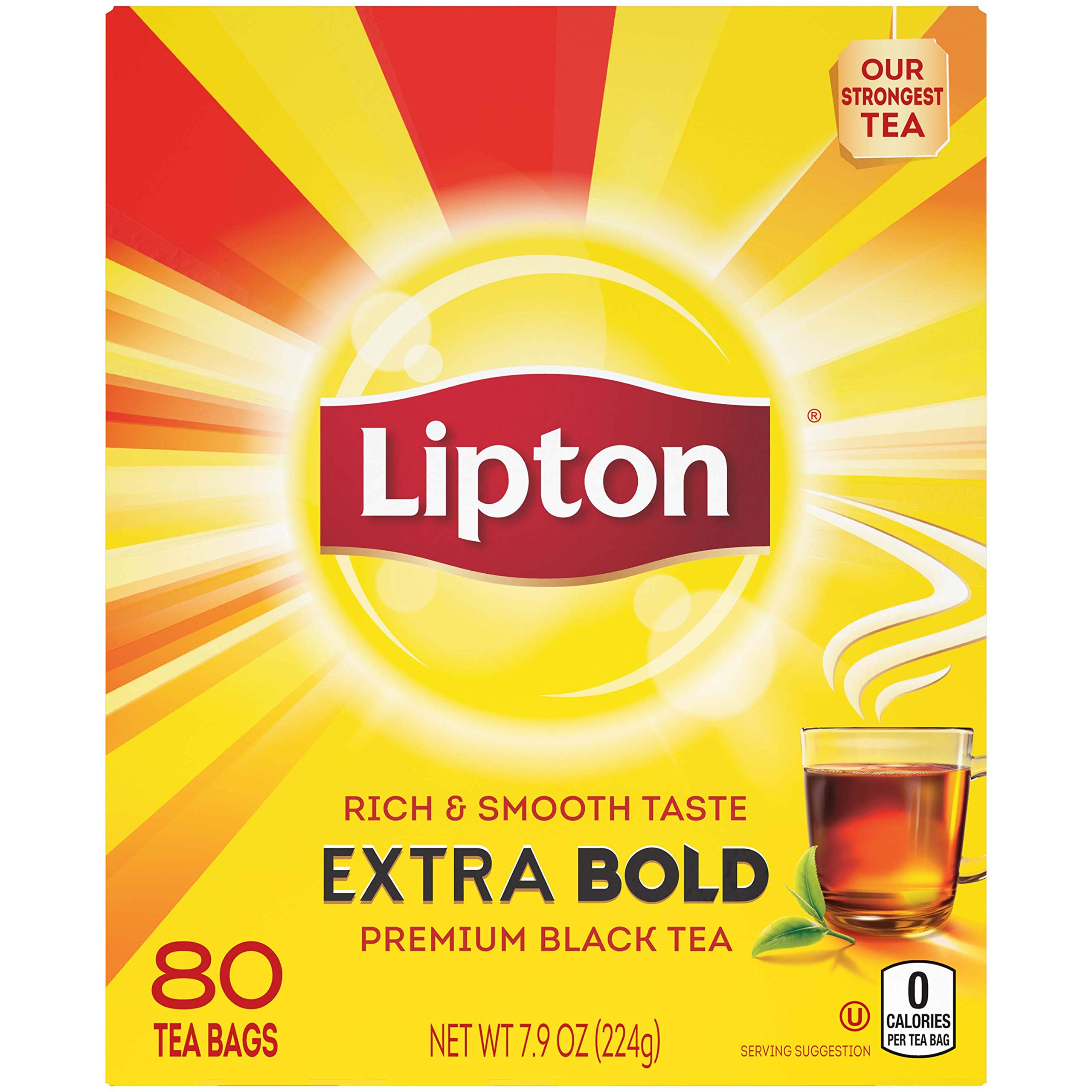 Lipton Tea, Extra Bold Cup, 80 ct, Pack of 5 by Lipton