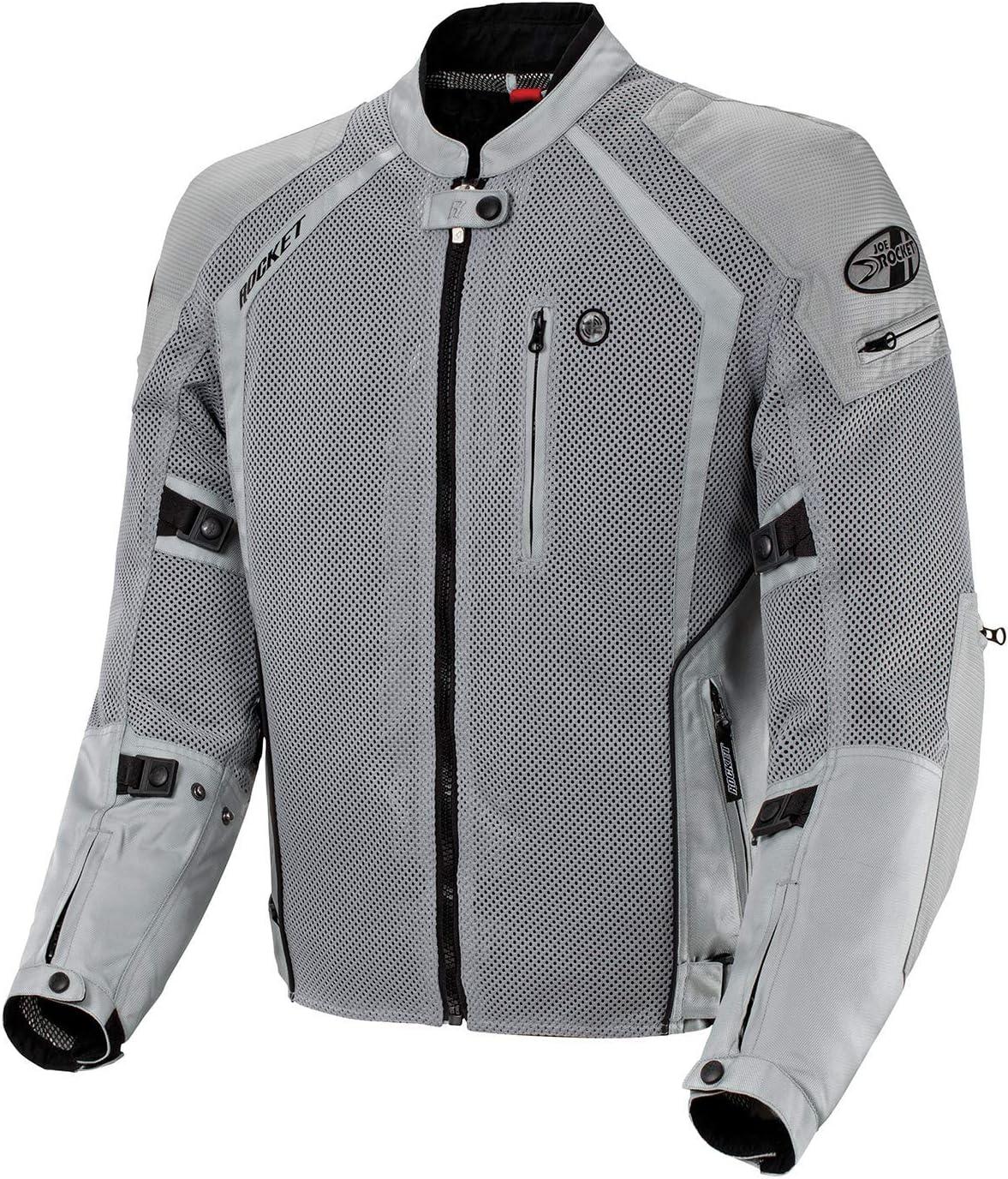 Joe Rocket 1516-4504 Phoenix Ion Mens Mesh Motorcycle Jacket Silver, Large