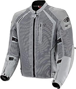 Joe Rocket 1516-4504 Phoenix Ion Men's Mesh Motorcycle Jacket (Silver, Large)