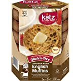 Katz Gluten Free Cinnamon Raisin English Muffins | Dairy, Nut and Gluten Free | Kosher (1 Pack of 4 Muffins, 11 Ounce)