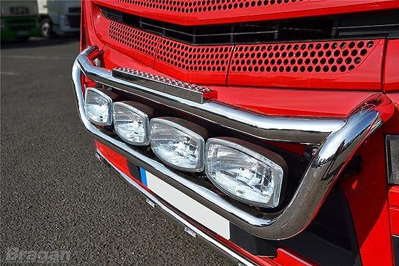Volvo FH/FM serie 2 & 3 S/S Barra de luz de camión parrilla delantera C 4 puntos + lateral LED: Amazon.es: Coche y moto