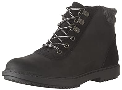 CLARKS Women's Raisie Vita Boot, Black Leather, ...