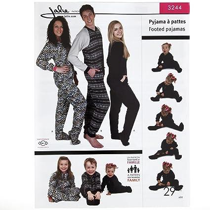 1c216b59a Amazon.com  JALIE PATTERNS 0310324 Jalie Footed Pajamas Pattern ...