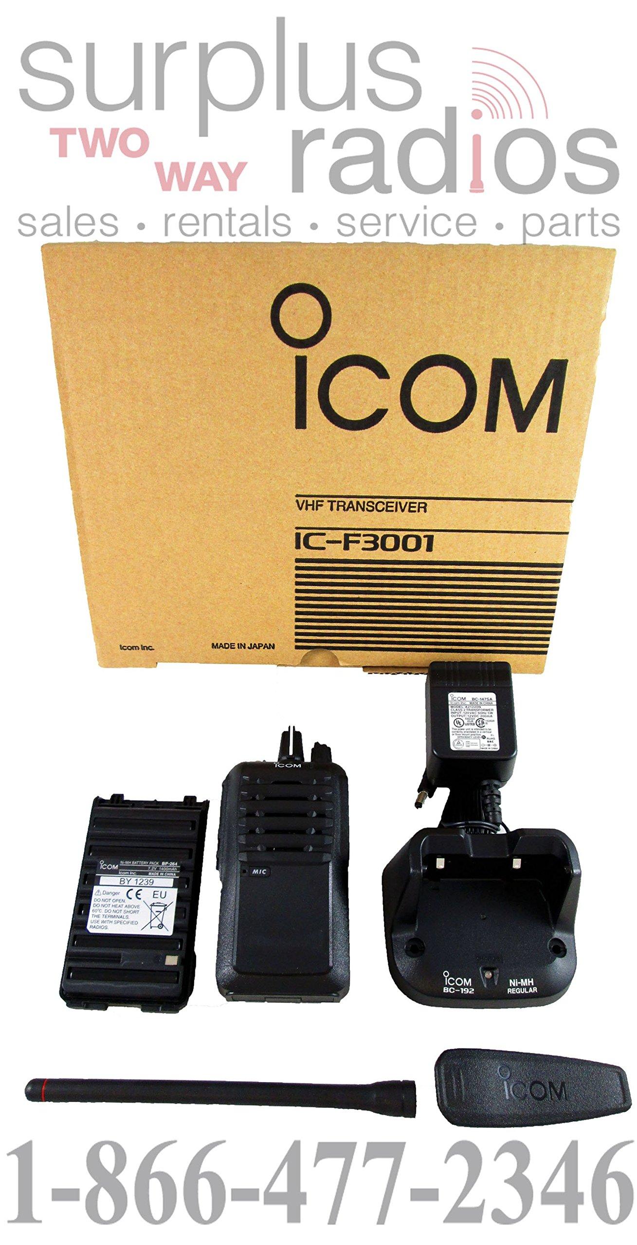 Icom IC-F3001 03 VHF 136-174MHz 5W 16 CHANNELS Two Way Radio