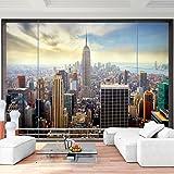 Fototapete Fenster nach New York 350 x 250 cm - Vliestapete - Wandtapete - Vlies Phototapete - Wand - Wandbilder XXL - !!! 100% MADE IN GERMANY !!! Runa Tapete 9026011a