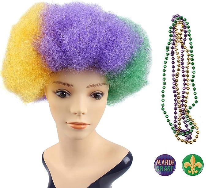 Amazon Com Jasmino Mardi Gras Synthetic Afro Hair Wigs Heat