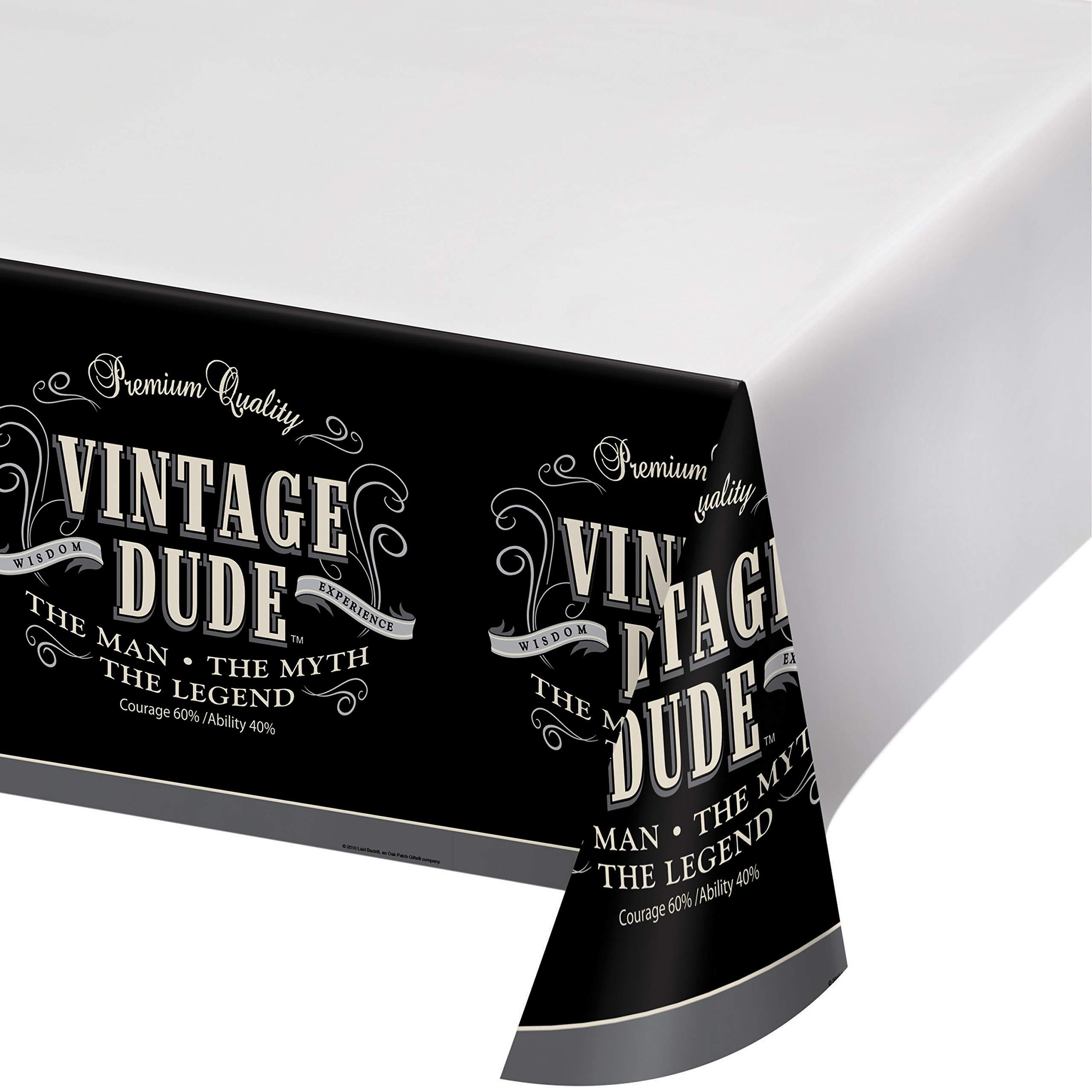 Vintage Dude Plastic Tablecloths, 3 ct