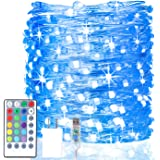 HABOM Led Fairy Lights Plug in,40 Ft 16 Colors Changing String Lights with Remote Control - 4 Lighting Modes+4 Timer…