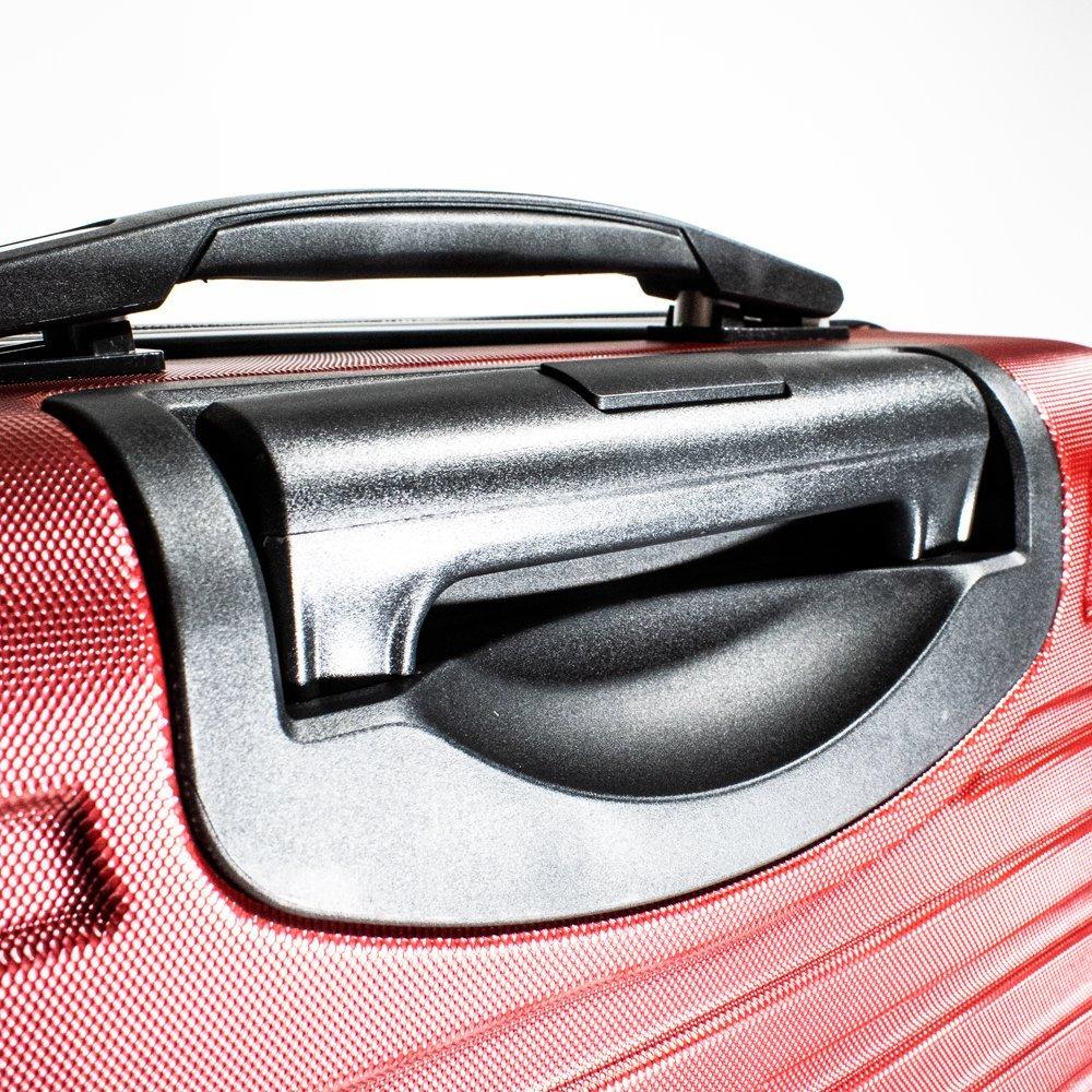 ALEKO LG915BURG ABS Luggage Travel Suitcase Set with Lock 3 Piece Horizontal Stripe Burgundy by ALEKO (Image #5)