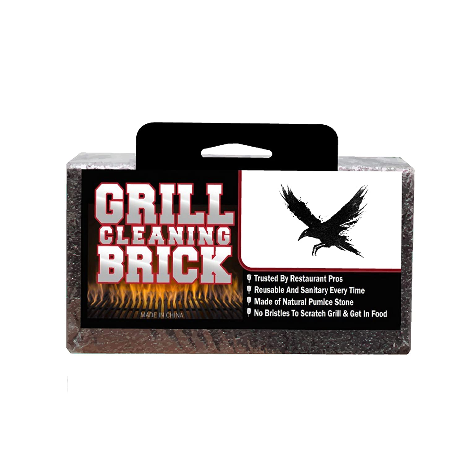 Grill Bricks | Stone | Large | Commercial Cleaning & Sanitation| Gas Grill | Grilling Stone Cleaner | BBQ | Pumice Black Raven Industries