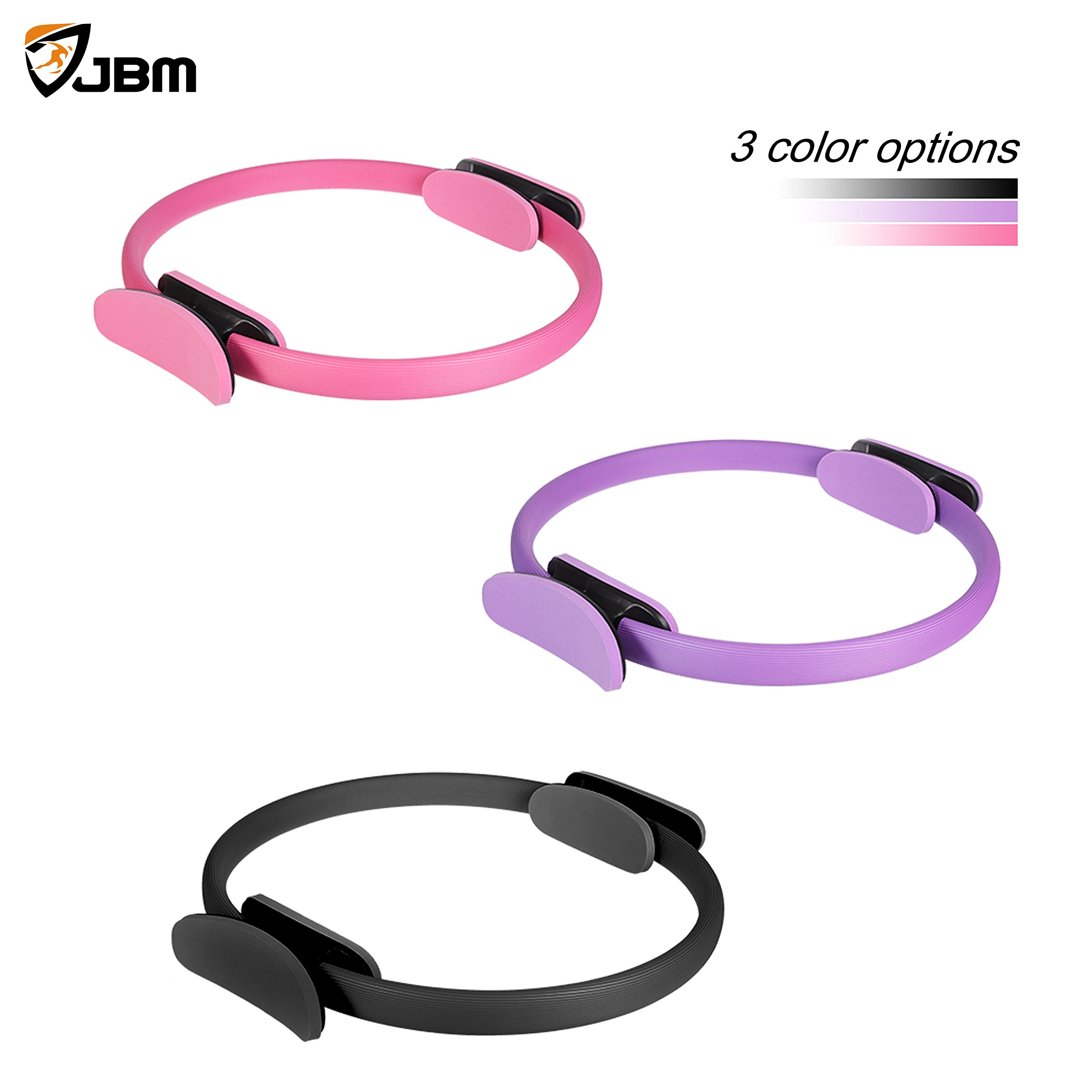 JBM 13 Inch Pilates Ring Fitness Ring, Exercise Yoga Pilates Magic Circle with Dual Grip Handles for Fitness Training