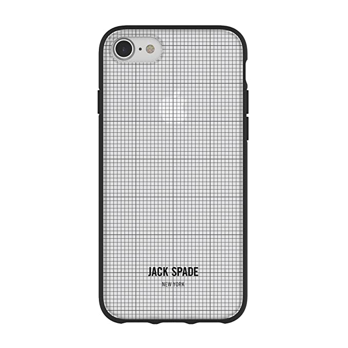 buy popular bb1cc cedff Jack Spade Printed Clear Case for iPhone 8 & iPhone 7 - Graph Check/Clear