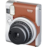 Fujifilm Instax Mini 90 + 1 Assorted Film + Accessories, Brown