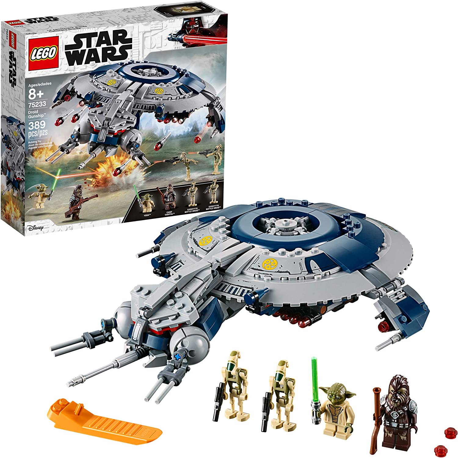 Amazon Com Lego Star Wars The Revenge Of The Sith Droid Gunship 75233 Building Kit 329 Pieces Toys Games