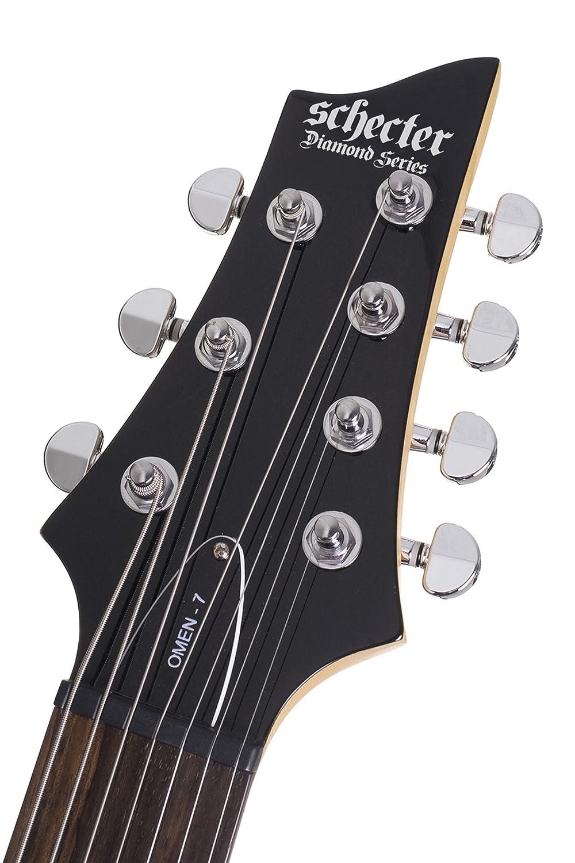 Schecter omen-7 (7 cuerdas Guitarra eléctrica (negro brillante): Amazon.es: Instrumentos musicales