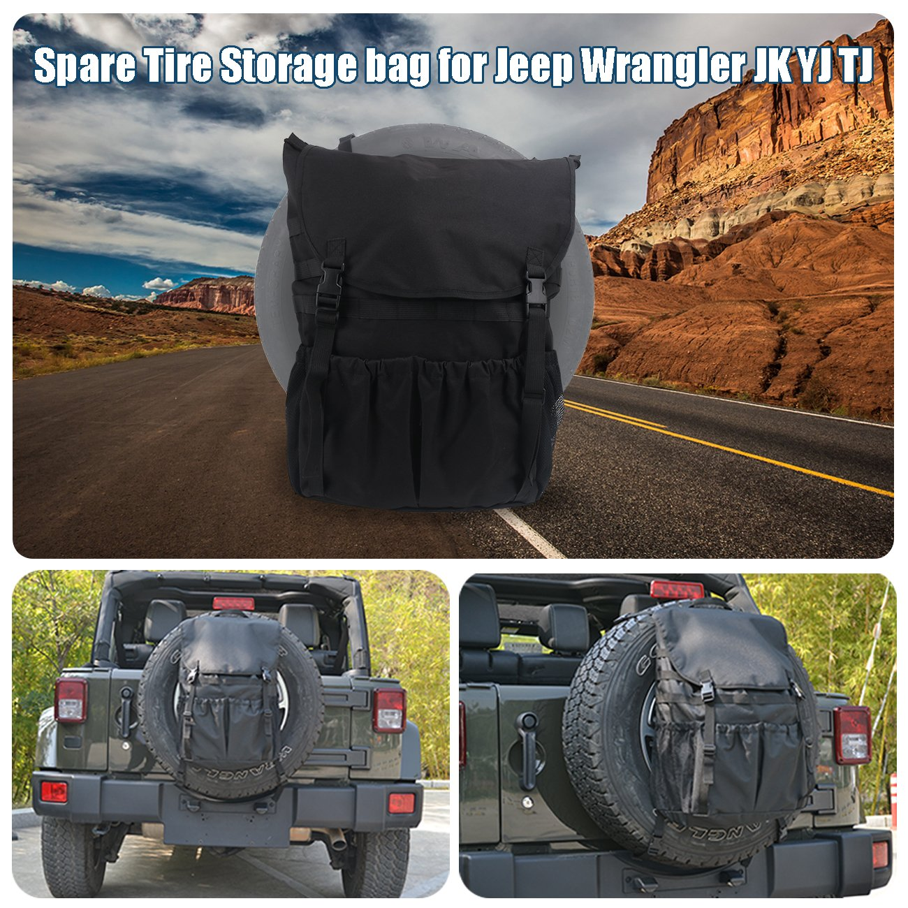 Para Wrangler JK YJTJ, bolsa de almacenamiento, organizador de mochila, organizador de maletero plegable.: Amazon.es: Coche y moto