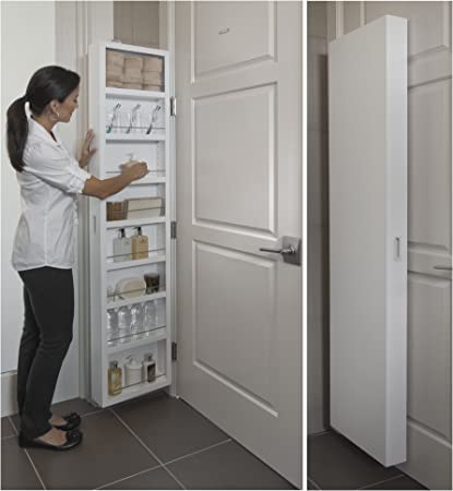 Mounted Extra Storage White Deluxe Over The Back of Door Wall Storage System